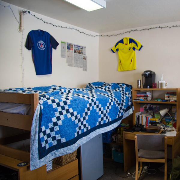 Students can put their own personal stamp on their rooms.
