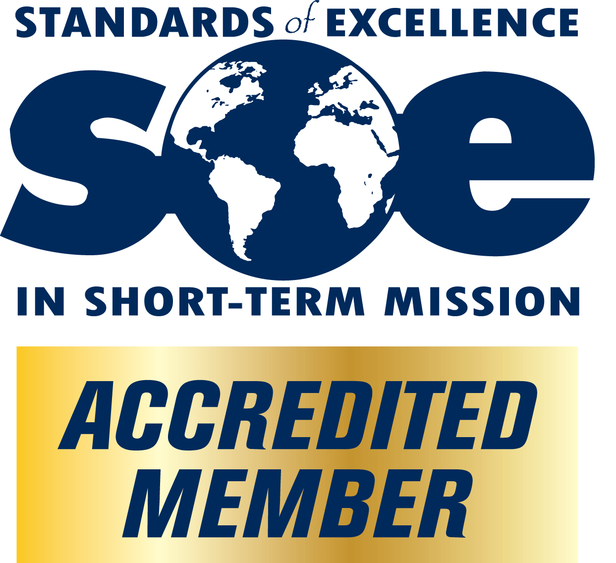 Award for being an accredited member of the Standards of Excellence in Short-Term Missions