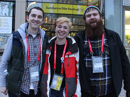 Film students enjoy an outing to a Salt Lake City Sundance venue.