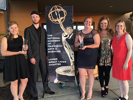 Taylor students brought home two student production awards from the Emmy organization in 2016.