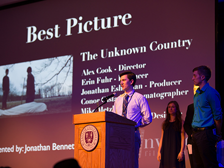 "Fiction film ""The Unknown Country"" is about two teens who try to make it on their own after their foster mother dies. Winner of Best Student Film at the Hoosierdance Film Festival in Kokomo."