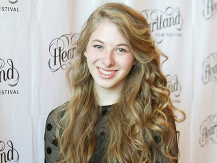 Olivia McCash won her first film award from the Heartland Film Festival in Indianapolis when she was a freshman at Taylor.