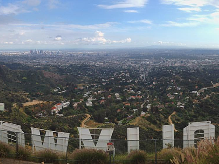 A semester woudn't be complete without a hike to the Hollywood sign.
